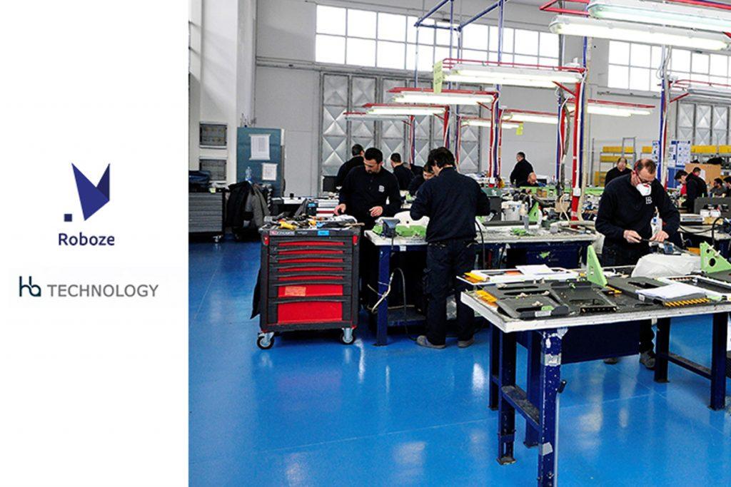 Roboze One +400 stampa in 3D componenti aerospaziali per HB Technology
