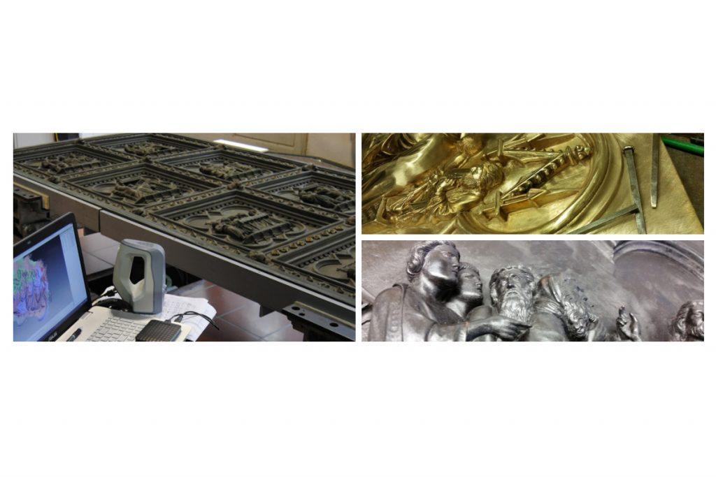 Scansione e stampa 3D per la replica della Porta Sud del Battistero di Firenze